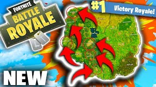 *EASY* HOW TO WIN ON THE NEW MAP! FORTNITE BATTLE ROYALE NEW MAP UPDATE! NEW LOCATIONS!