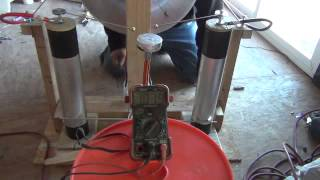 This is a demonstration of the proper use of a Tesla coil, as a ele...