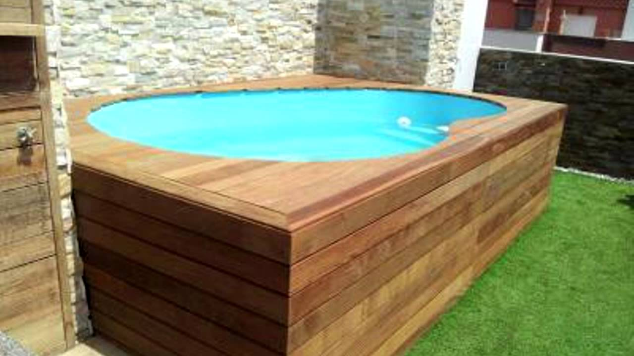 Barpool piscinas prefabricadas modelo minipiscina a3 youtube for Piscinas desmontables para azoteas