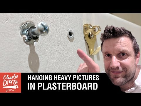 How to Hang a Heavy Picture on a Plasterboard Wall Video#1