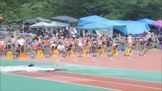 2017福岡県中学選手権〈中3男100m予選4組〉 石井慶 検索動画 8