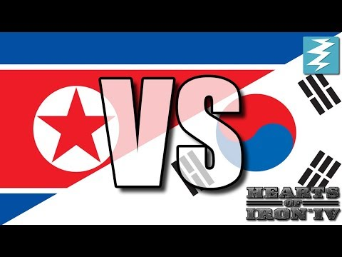 North Korea Vs South Korea Ep15 - Hearts of Iron 4 (HOI4)