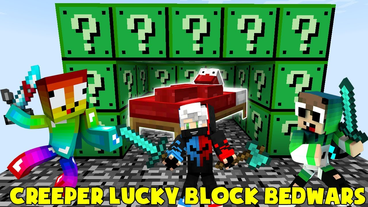 MINI GAME : CREEPER LUCKY BLOCK BEDWARS ** THANH KIẾM SẮT SIÊU VIP CỦA NOOB VÀ CÁI KẾT ??