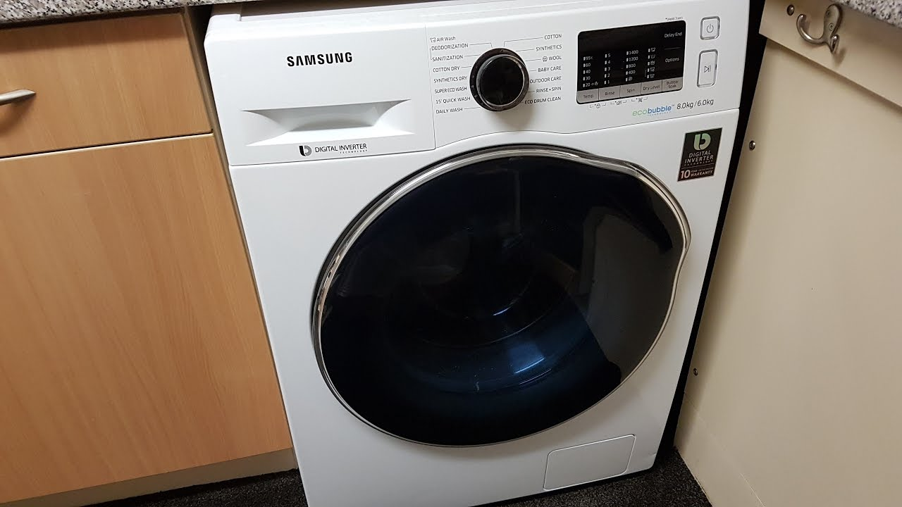 Samsung Ecobubble WD80J5410AW 8Kg   6Kg Washer Dryer with 1400 rpm - White e31e002466