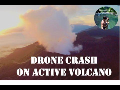 Drone & Gopro crash on volcano Bromo