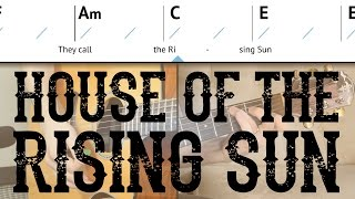 House Of The Rising Sun - Easy Guitar Lesson | The Animals - Basic Chords & Picking