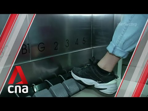 Look-no-hands-Bangkok-mall-replaces-elevator-lift-buttons-with-foot-pedals-to-curb-COVID-19-spread