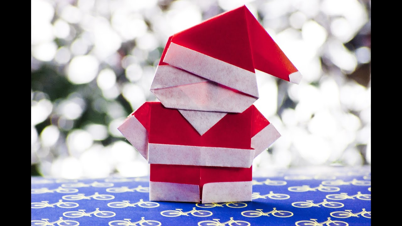 how to make a paper santa claus origami youtube