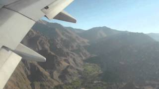 Scary plane landing in Leh, Ladakh, India