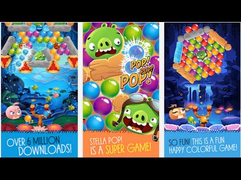 Angry Birds Stella POP Free Android İOS Puzzle Game Meets Bubble ...