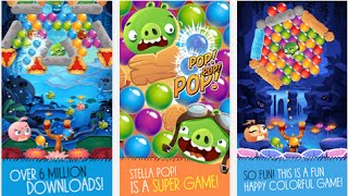 Angry Birds Stella POP Free Android İOS Puzzle Game Meets Bubble Shooter