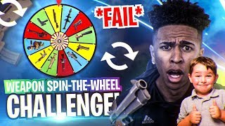 *FAIL* FORTNITE SPIN-THE-WHEEL WEAPON CHALLENGE w/ 8 Year Old Joey! Fortnite Battle Royale