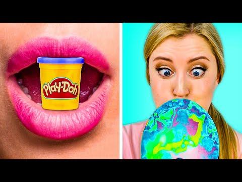 FUNNY DIY FOOD PRANKS || Fake Food VS Gummy Food with 123 GO! GOLD