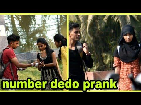 Number dedo prank on cute girl | sujeet gupta |