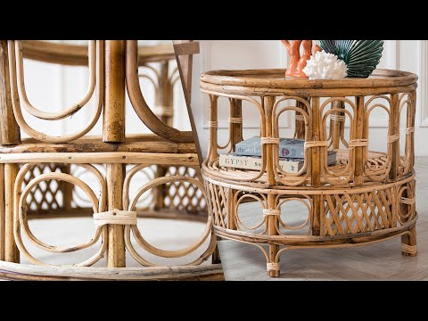 Round Bamboo Coffee Table | Rockett St George