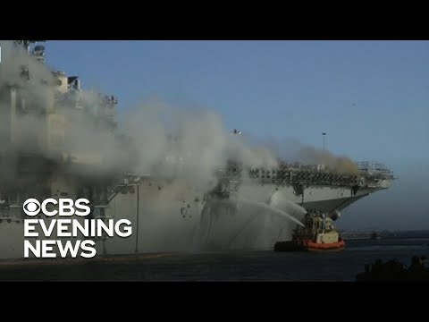 Report says multiple failures led to devastating fire on Navy ship