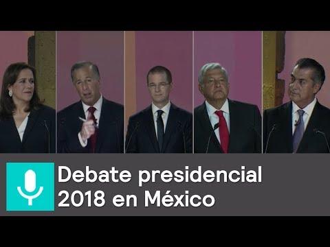 Debate entre candidatos a la presidencia 2018
