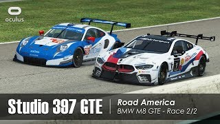 rFactor 2 - Studio 397 GTE - Road America (35 cars) - RD Club Race 2/2 - BMW M8 GTE