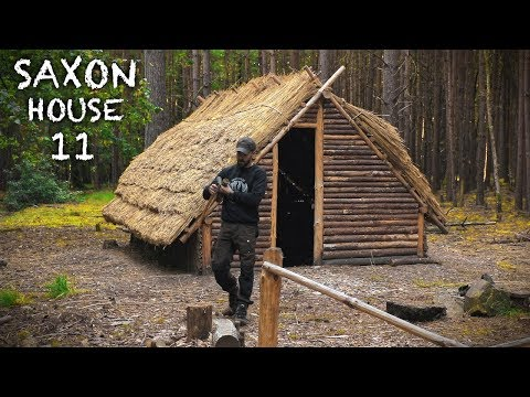 Thatch House Build: Primitive Moss Insulation | Bushcraft Saxon House (PART 11)