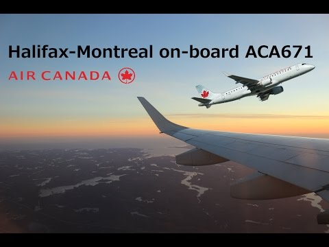 Sunset-Flight-Report: Halifax-Montreal, Air Canada Embraer 190