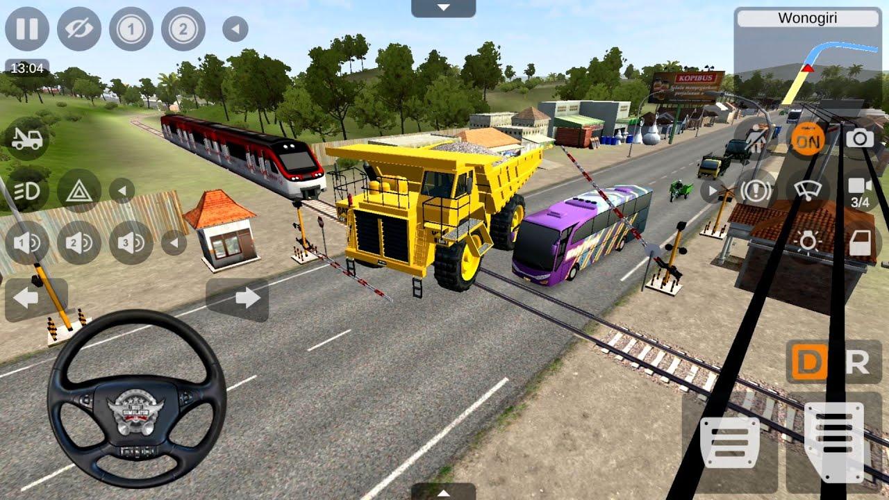 Caterpillar Dump Truck Driving - Bus Simulator Indonesia - New GamePlay