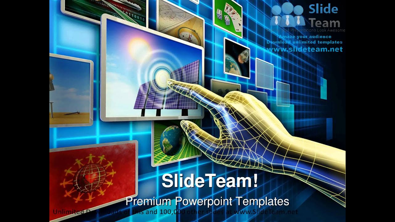 Touch screen interface powerpoint template free download.