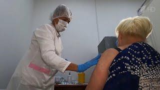 Заболеваемость COVID 19 идет на спад в тех регионах России где привиты более половины населения