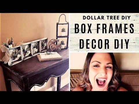 DOLLAR TREE DIY with BOX FRAMES + Bonus DIY