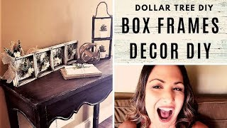 DOLLAR TREE DIY with BOX FRAMES + Bonus DIY