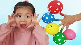 Finger Family Colors Song (Daddy Finger) Balloon Version, Baby Nursery Rhymes
