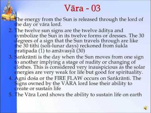 Panchanga--Vaara02&03-Slide 14&15 of 35- Pt. Sanjay Rath