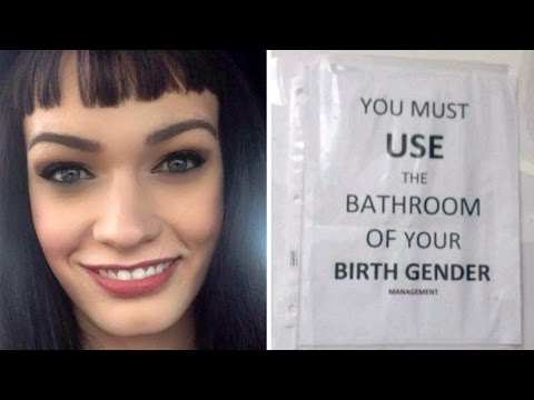 Alberta Trans woman hopes for public apology after controversial bathroom sign removed
