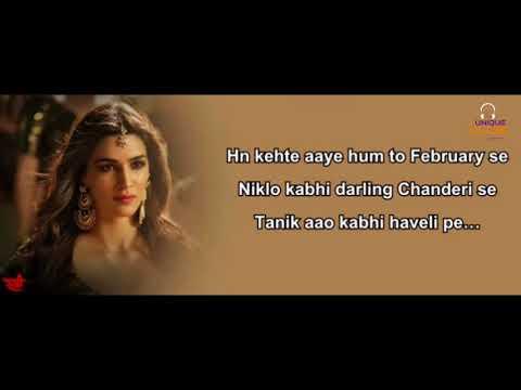 Aao Kabhi Haveli Pe Lyrics Badshah, Nikhita Gandhi & Sachin Jigar, Stree