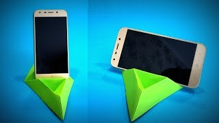 Origami Stand Phone #2 | How to Make a Paper Phone Stand DIY | Easy Origami ART | Paper Crafts
