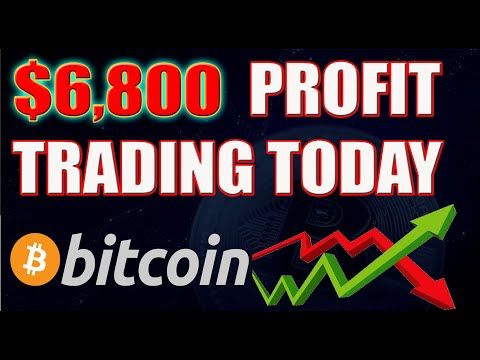 $6,800 Profit Trading Bitcoin And Other Crypto Currencies Today!