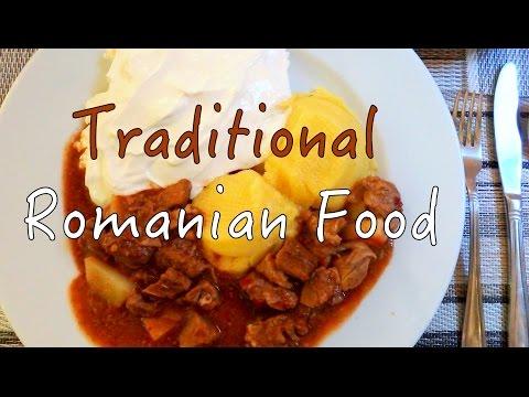 Traditional Romanian Food in Brasov, Romania