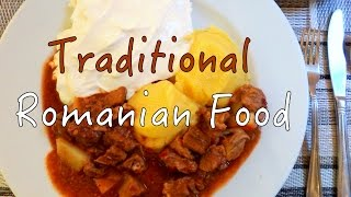Traditional Romanian Food in Brasov, Romania
