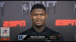 Zion Williamson react to Pelicans trading Anthony Davis to Lakers on ESPN SC
