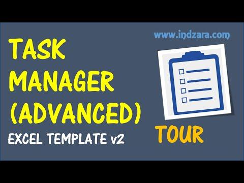 Task Manager (Advanced) ExcelTemplate - v2 - Tour
