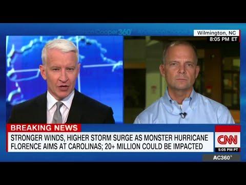 Hurricane Florence's Massive Eyewall New Video