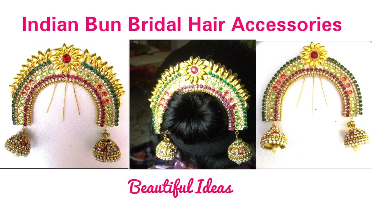 hair accessories:how to make indian bun bridal hair accessories at hometutorial