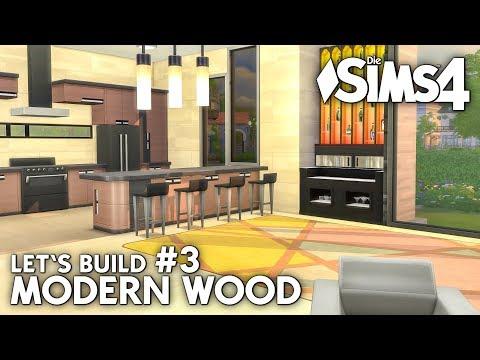 Modern Wood Haus bauen in Die Sims 4 | Let's Build #3: Ergeschoss
