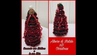 Albero Di Natale Uncinetto Youtube.Uncinetto Albero Di Natale 3d Christmas Youtube