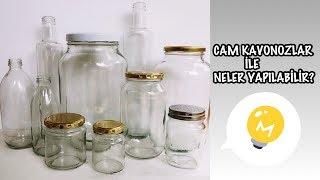 CAM KAVANOZLAR İLE NELER YAPILIR? // 3 AWESOME IDEA WITH EMPTY  GLASS JARS