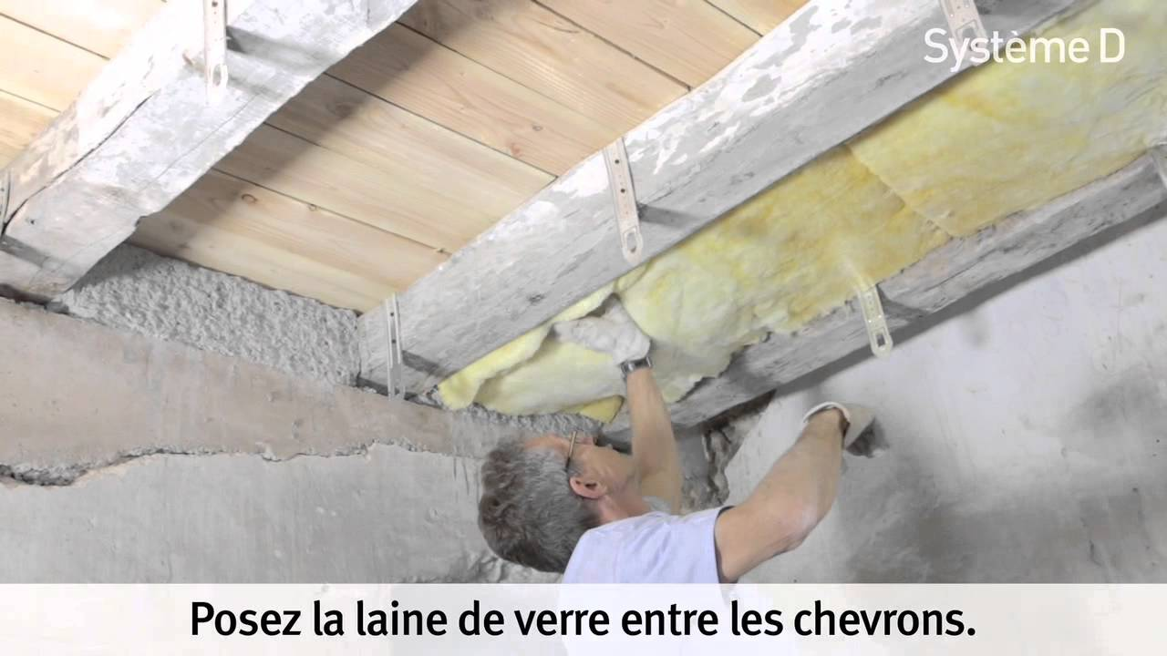 Isoler un plancher bois youtube for Isoler un garage plafond