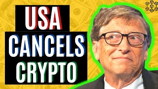 SHOCKING NEWS! THE USA IS ABOUT TO CANCEL CRYPTOCURRENCY| CRYPTO NEWS