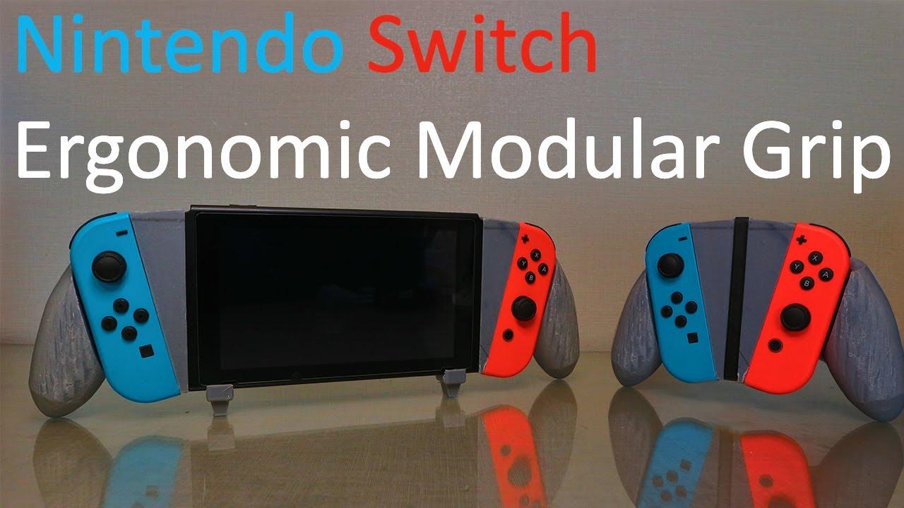 3D Printed Ergonomic Modular Nintendo Switch Grip