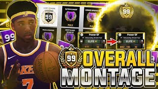 99 OVERALL MONTAGE • PRELUDE TO 99 OVERALL (HOW I BECAME A 99 OVERALL REBOUNDING STRETCH) NBA 2K19