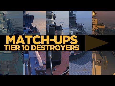Match-ups - Tier 10 Destroyers