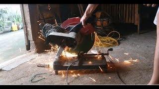 chế máy cắt sắt từ máy bơm nước cũ - chế máy cắt giá rẻ 300k